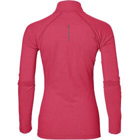 asics LS 1/2 Zip Jersey Women cosmo pink heather